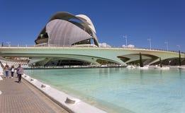 Staden av konster och vetenskaper som är komplexa i Valencia royaltyfria bilder