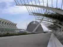 Staden av konsterna och vetenskaperna av Valencia spain arkivfoton