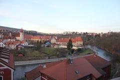 Staden av Krumlov Arkivfoto