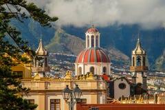 Staden av La Orotava, Tenerife Arkivbild