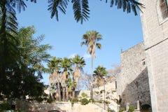 Staden av Latran och Ain Karem i Judea israel Landskap på gatorna och på utkanten av städer royaltyfri fotografi