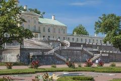 Staden av Lomonosov, Menshikov slott Royaltyfria Foton