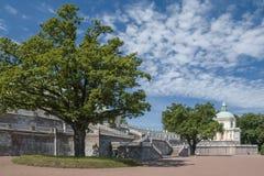 - staden av Lomonosov, Menshikov slott Royaltyfri Fotografi