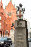 Staden av London Lion Statue Royaltyfria Foton