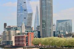 Staden av London skyskrapor Royaltyfria Bilder