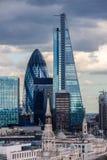 Staden av London skyskrapor Royaltyfri Fotografi