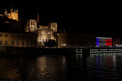 Staden av Lyon firar minnet av Bastilledag Royaltyfri Bild