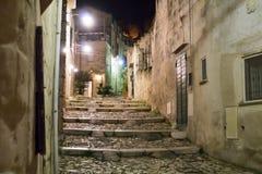 Staden av Matera i sydliga Italien Royaltyfri Foto