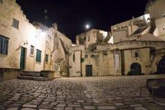 Staden av Matera i sydliga Italien Royaltyfri Bild