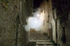 Staden av Matera i sydliga Italien Arkivbilder