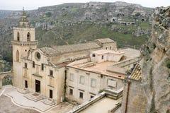 Staden av Matera i sydliga Italien Royaltyfri Fotografi