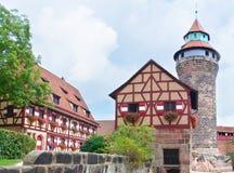 Staden av Nuremberg fotografering för bildbyråer