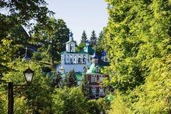 Staden av Pechora Ryssland Kyrka av interventionen och arkivbilder