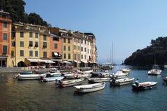 Staden av Portofino, Italien fotografering för bildbyråer