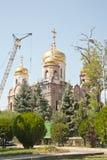 Staden av Pyatigorsk Konstruktion av templet Royaltyfri Fotografi