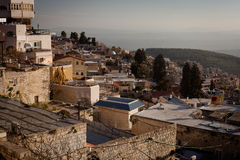 Staden av Safed i nordliga Israel Royaltyfria Bilder