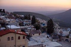 Staden av Safed i nordliga Israel Fotografering för Bildbyråer