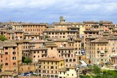 Staden av Siena, Tuscany Arkivbilder