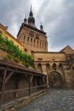 Staden av Sighisoara i Rumänien Arkivfoto