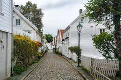 Staden av Stavanger i Norge Royaltyfri Bild