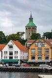 Staden av Stavanger i Norge Royaltyfri Foto