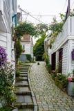 Staden av Stavanger i Norge Fotografering för Bildbyråer