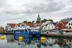 Staden av Stavanger i Norge Royaltyfria Foton