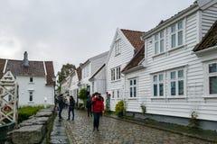 Staden av Stavanger i Norge Royaltyfri Fotografi