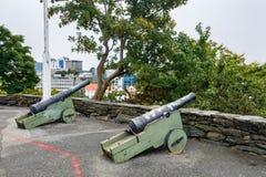 Staden av Stavanger i Norge Arkivbild
