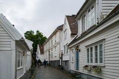 Staden av Stavanger i Norge Arkivfoton