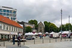 Staden av Stavanger i Norge Arkivbilder
