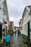 Staden av Stavanger i Norge Royaltyfria Bilder