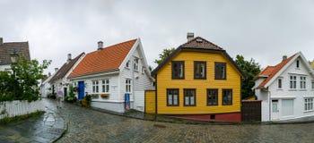 Staden av Stavanger i Norge Arkivfoto