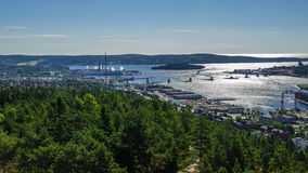 Staden av Sundsvall, Sverige Arkivbild