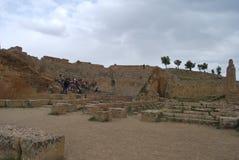 Staden av Timgad Arkivfoto
