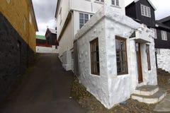 Staden av Torshavn i Faroeen Island Arkivfoton