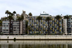 Staden av Vina Del Mar, den administrativa mitten av den homonymous kommunen, del av landskapet av Valparaiso Arkivbilder