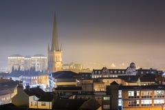 Staden av Wakefield som är västra - yorkshire, UK arkivfoto