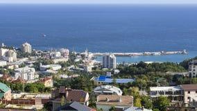 Staden av Yalta Arkivfoto