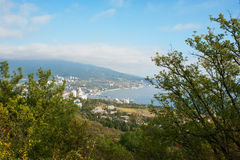 Staden av Yalta crimea Arkivbilder