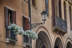 Staden Bergamo, Italien Arkivfoton