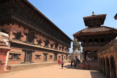 Staden Bhaktapur Nepal Royaltyfria Foton