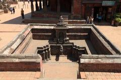 Staden Bhaktapur Nepal Arkivfoton