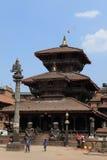 Staden Bhaktapur Nepal Arkivbilder