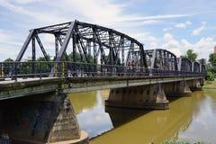 Staden Chiang Mai Thailand Bridge Steel kyler gammalt Royaltyfria Bilder