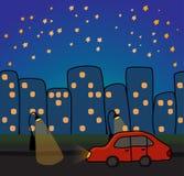 staden eps för 8 bil illustrerar vektorn Royaltyfri Foto