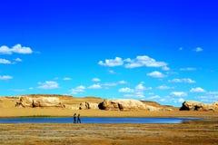 Staden för vattenYardang jäkel, landformen för yardang för vatten för världs` s den unika Royaltyfria Bilder