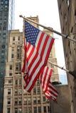 staden flags New York Arkivfoto