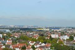 Staden från himlen Royaltyfria Bilder