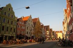 Staden går i Ingolstad Fotografering för Bildbyråer